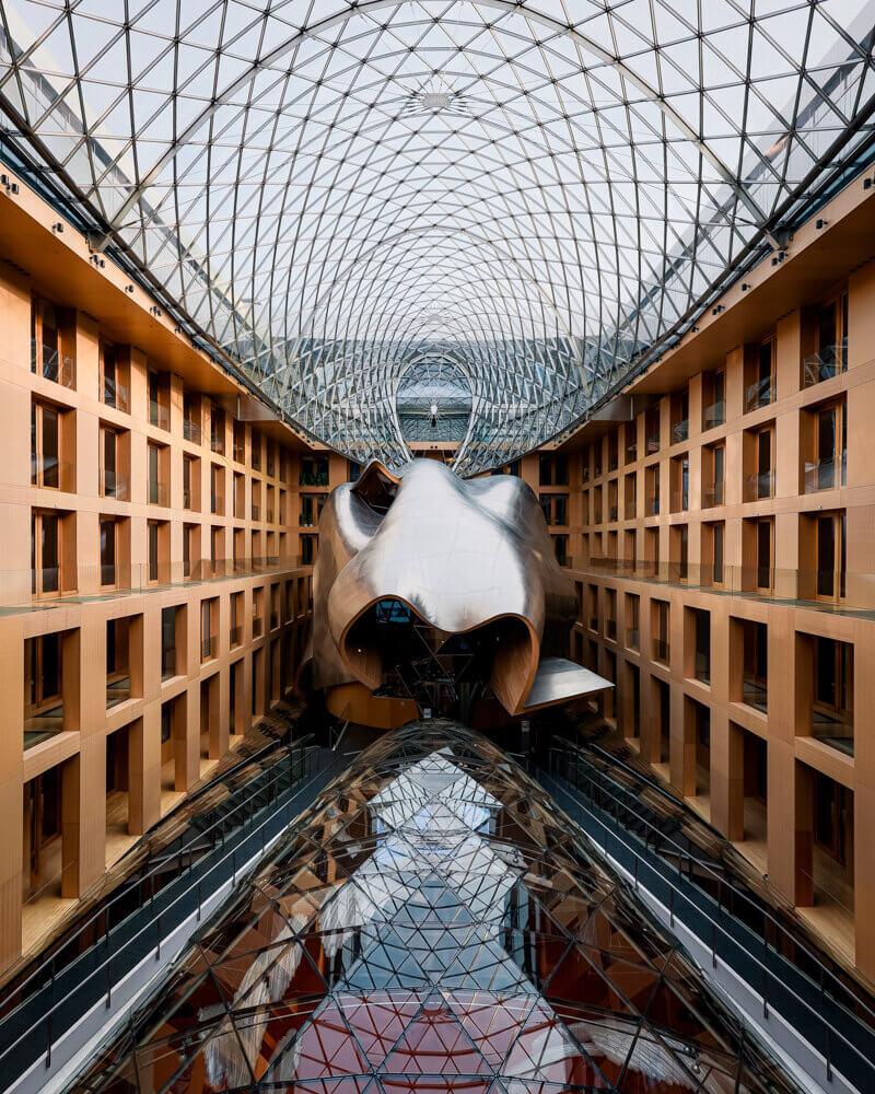 DZ Bank Building Berlin, interior building, glass roof
