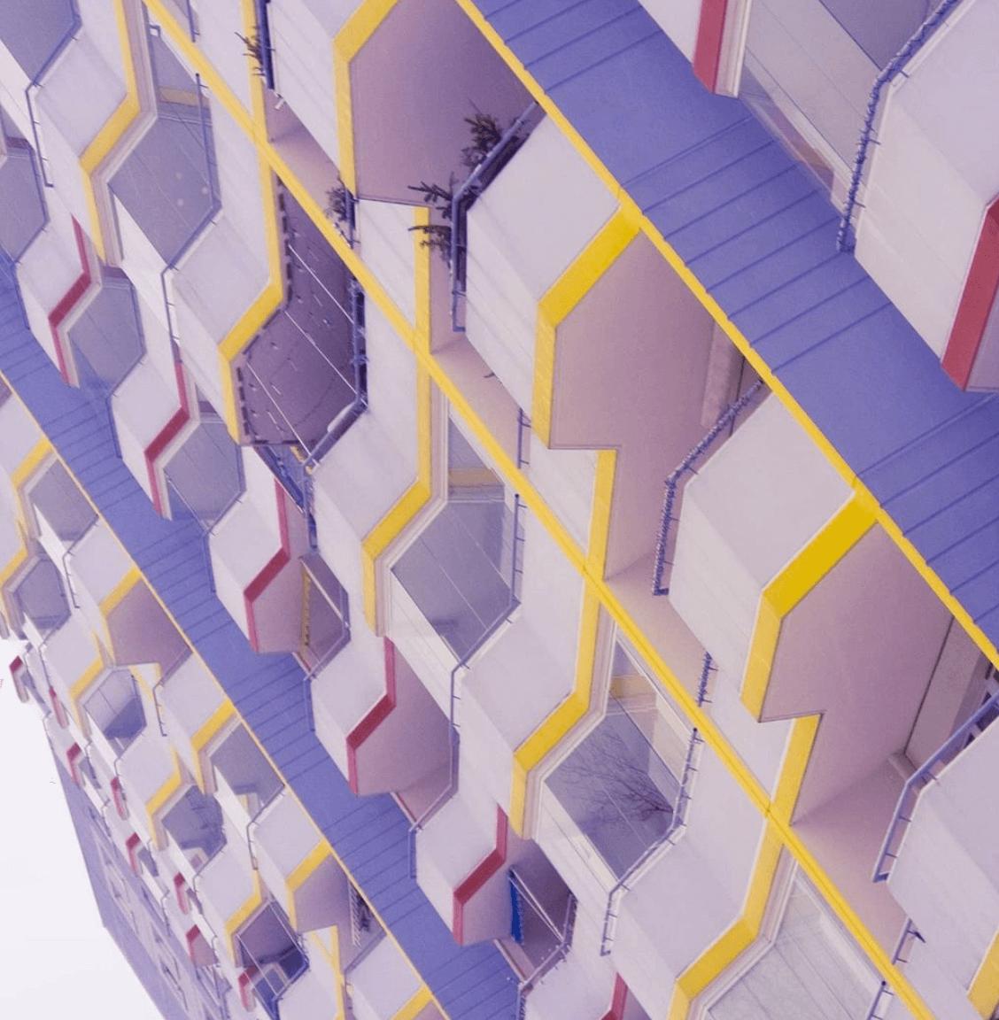 colourful berlin apartment, balconies