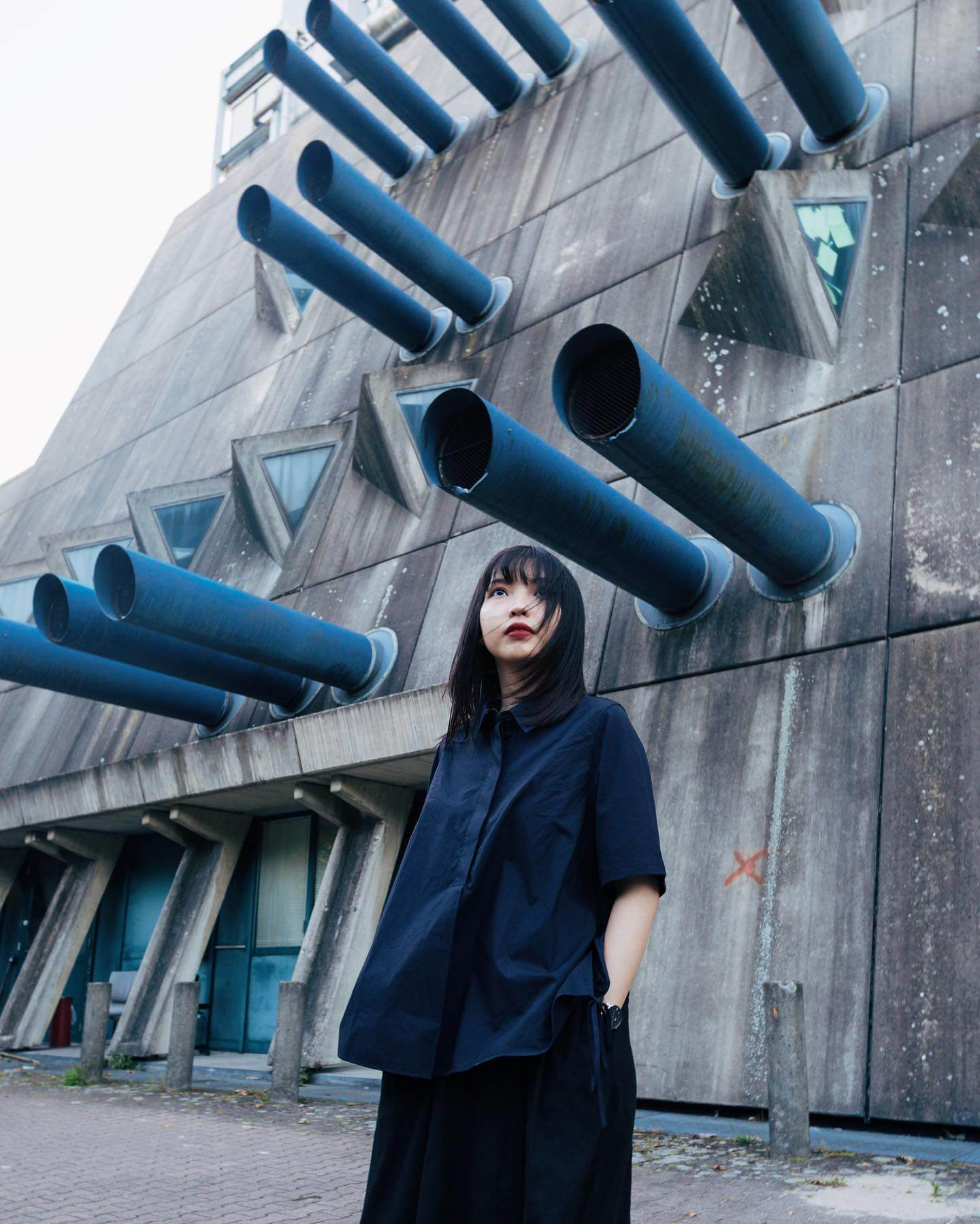 Brutalism architecture, blue architecture, model