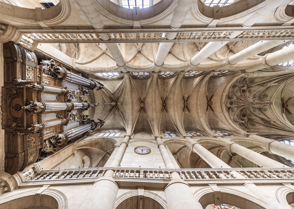 Ceiling of a Romanesque church.