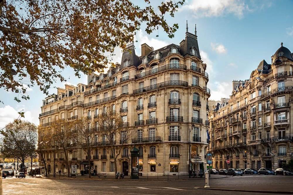 Gothic-style building block in Paris.