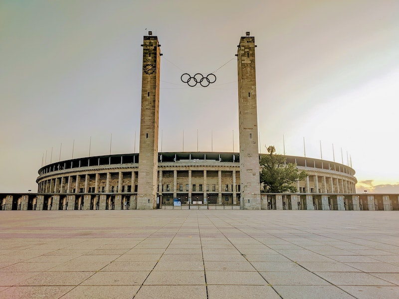The Olympiastadion as a location for photos and shootings in Berlin Germany