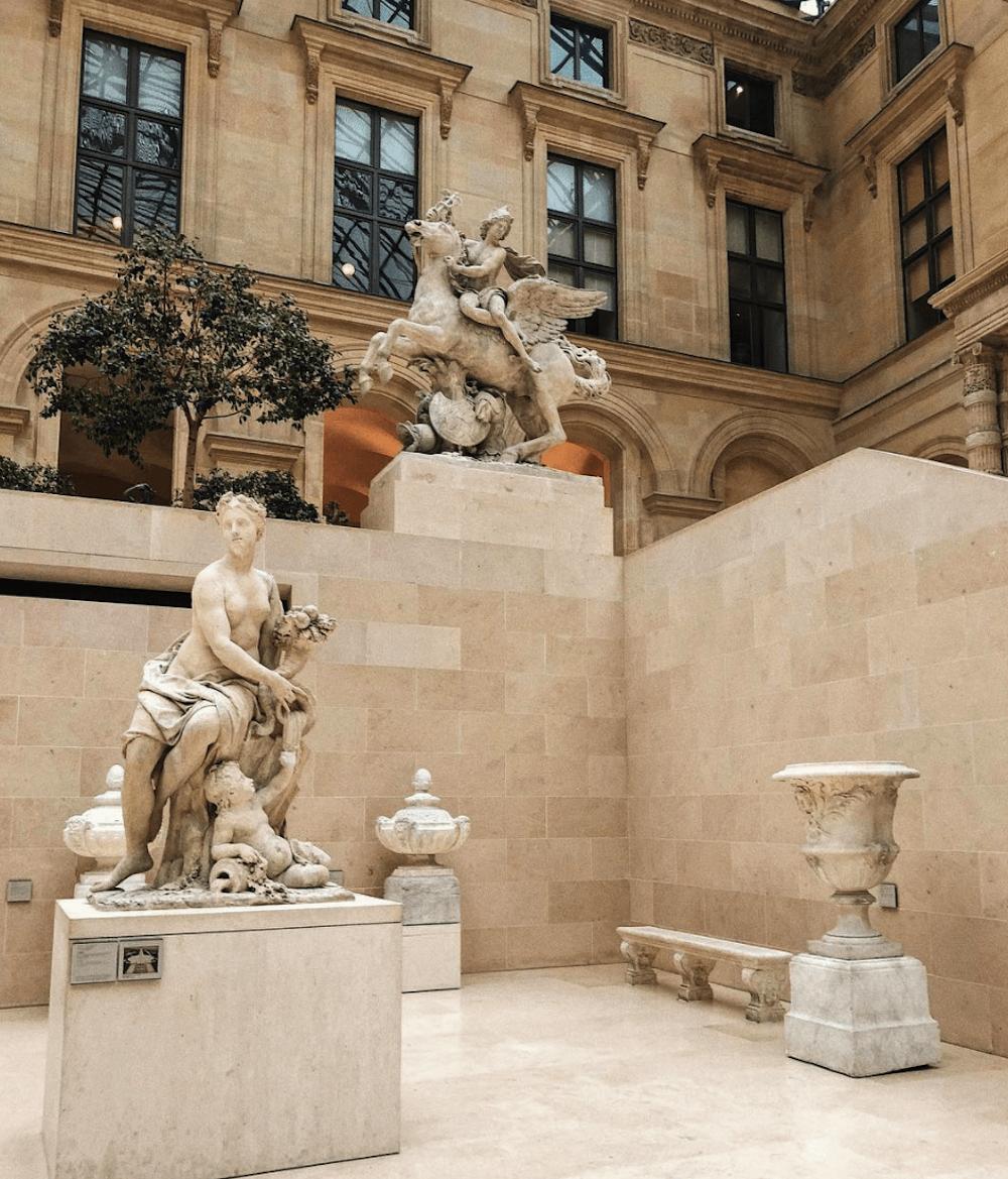Stone sculpture in a museum in Paris.