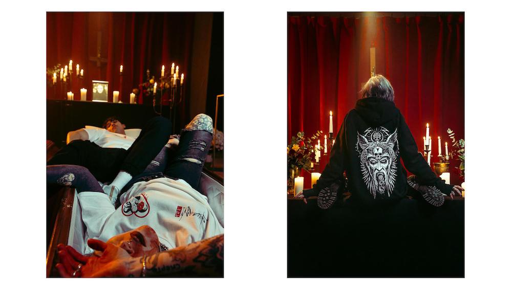 Gothic set photoshoots.