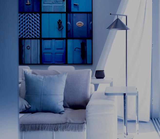 Book a set designer with Beazy - Home set designed in blue tones