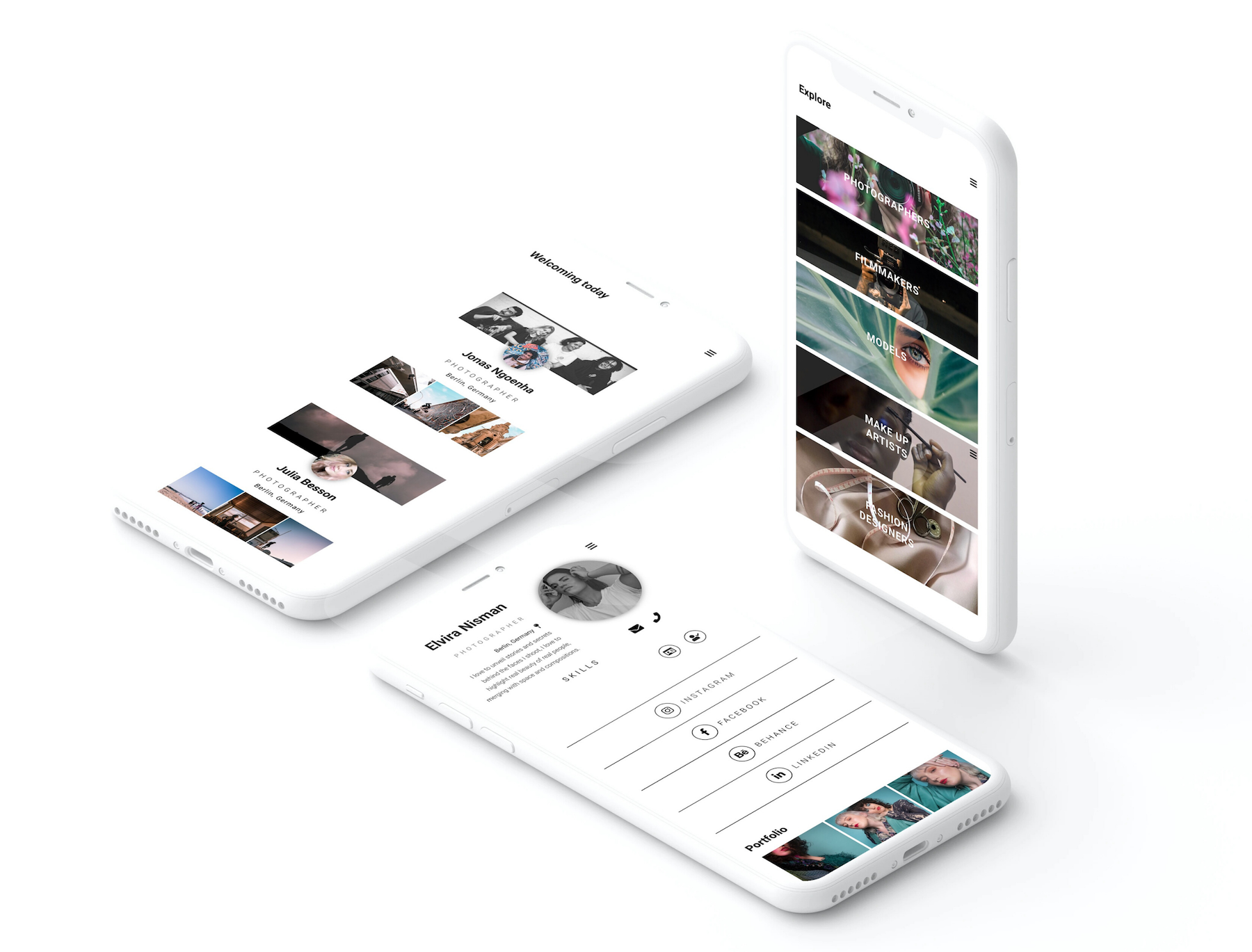 The Beazy gang is a collaborative app for creatives, allows you to display your portfolio with many links to your social media