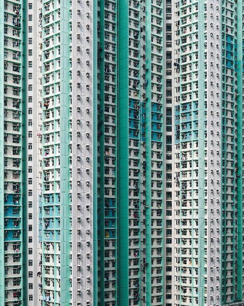 Photo by architecture photographer Konrad Langer, buildings with lots of windoes