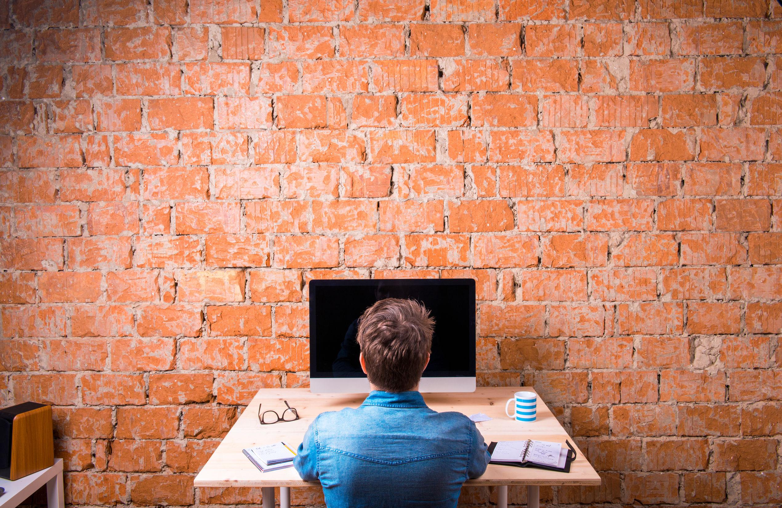 Man building an affordable website