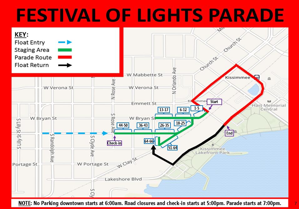 2019 kissimmee parade map