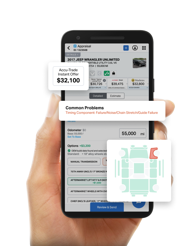 Mobile view of Accu-Trade Instant Offer
