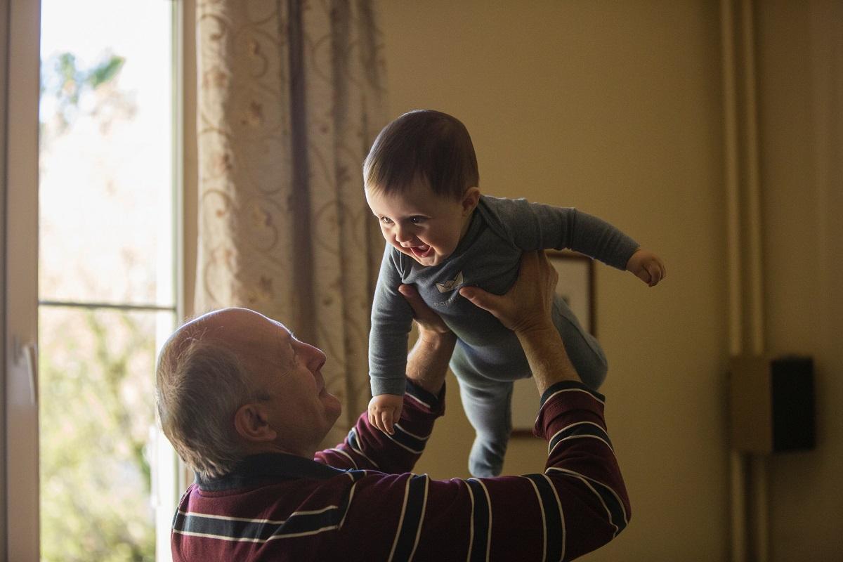 grandpa with grandson in Arizona