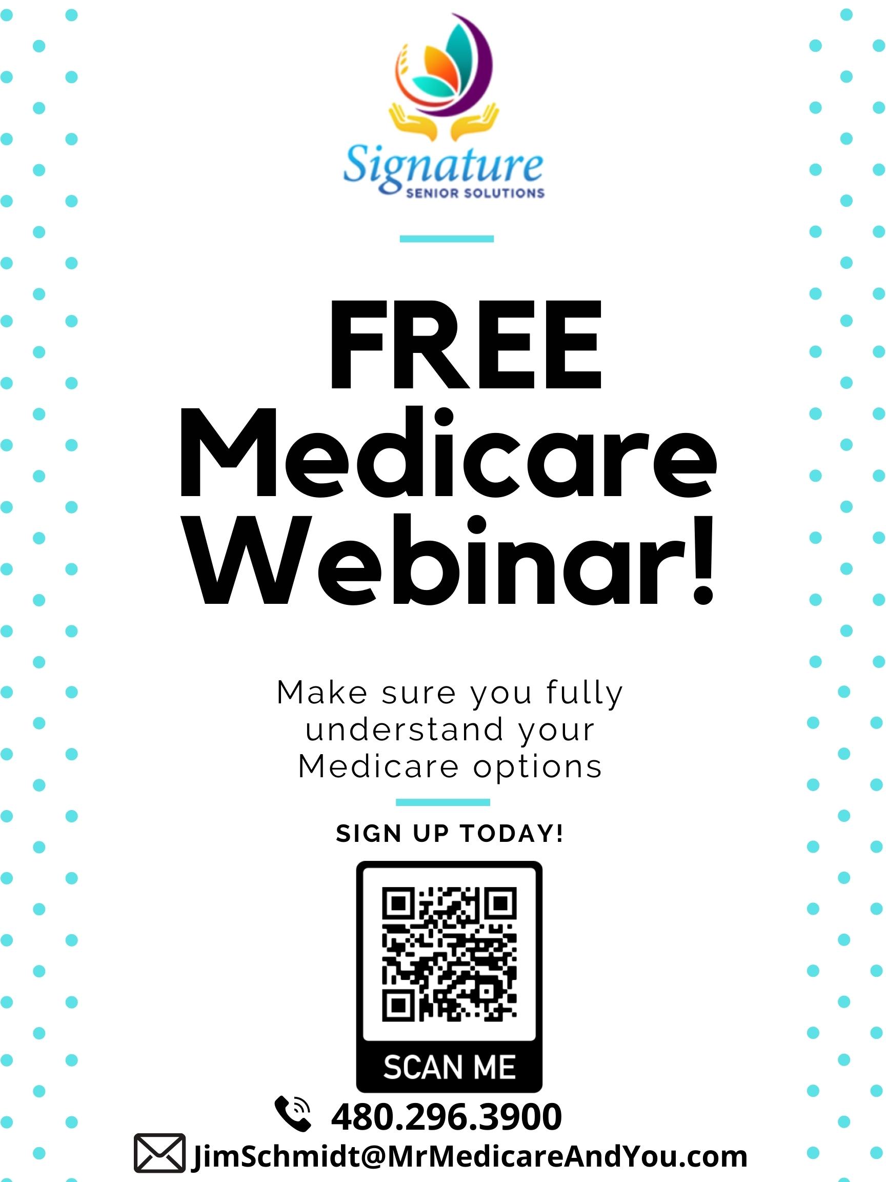 Medicare Webinar Poster