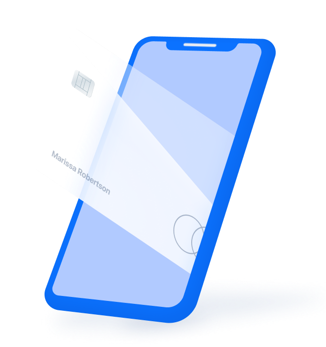 Card Coming Out of Phone