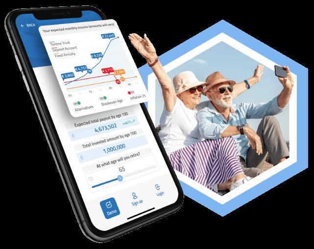 Mytontine app and happy retirees