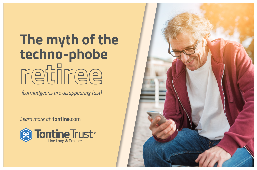 Smartphone usage is catching up quickly among older people and technology use can only grow. But for pensions, it's all about trust.