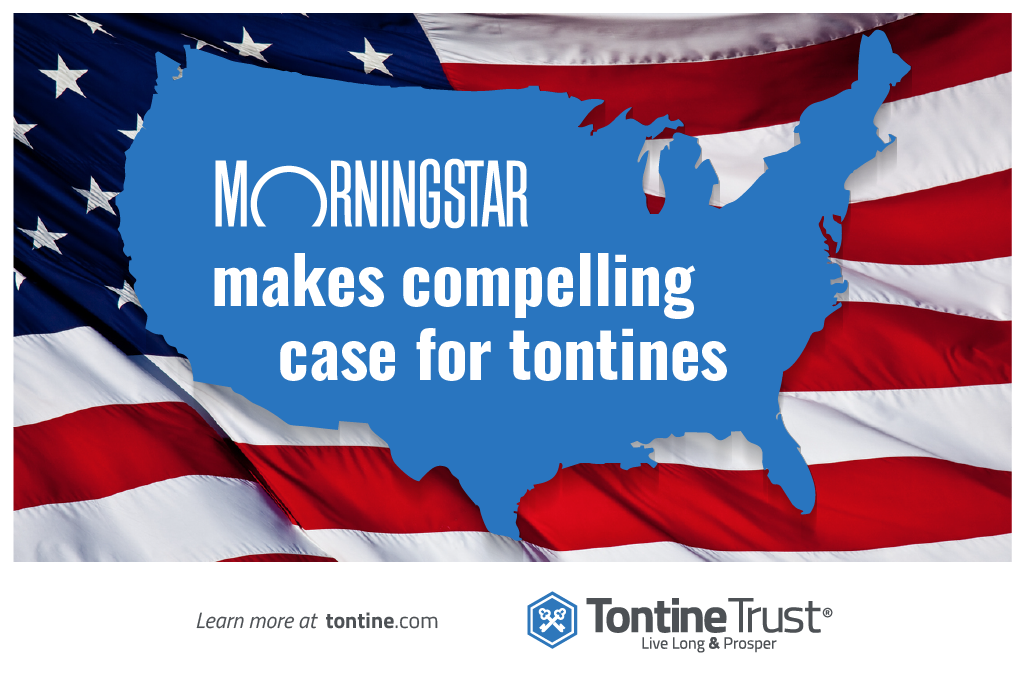 """Morningstar recommends """"old-fashioned tontines as a modern option to cut fees and manage retirement money""""."""
