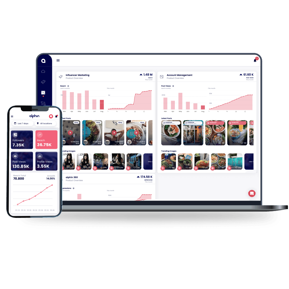 Die alphin Marketing-Plattform.