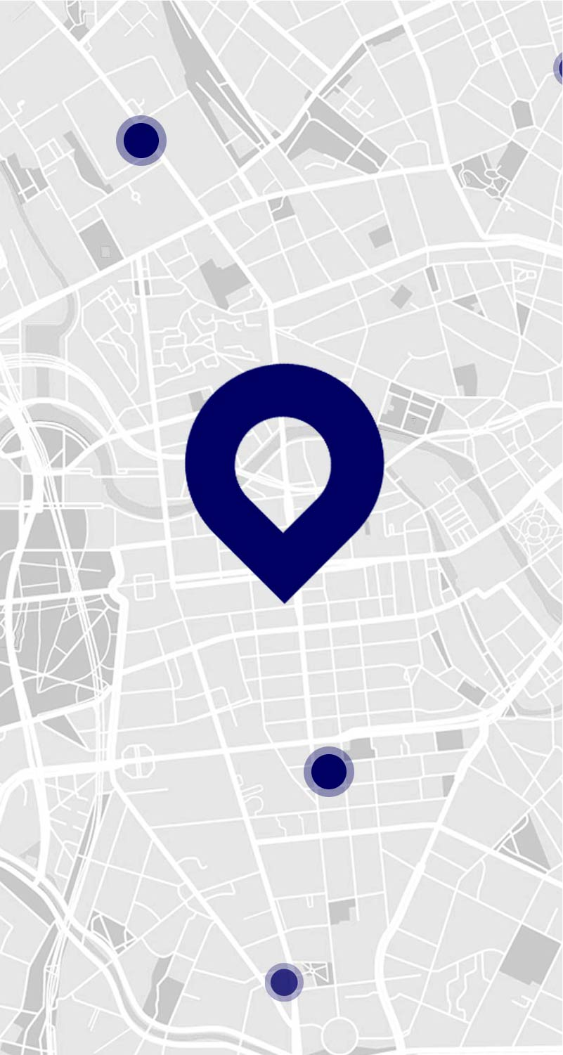 location pin on Map in App.