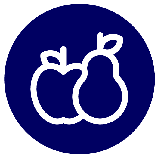 Obst, Drinks, Müsli