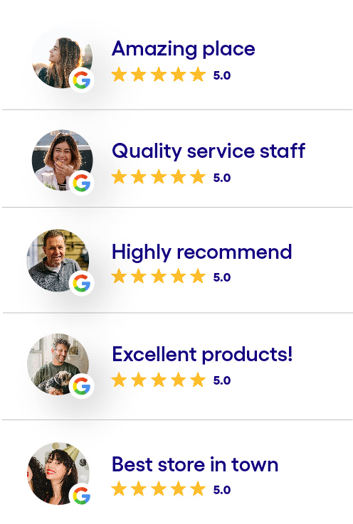 Lots of 4- and 5-star reviews on Google.