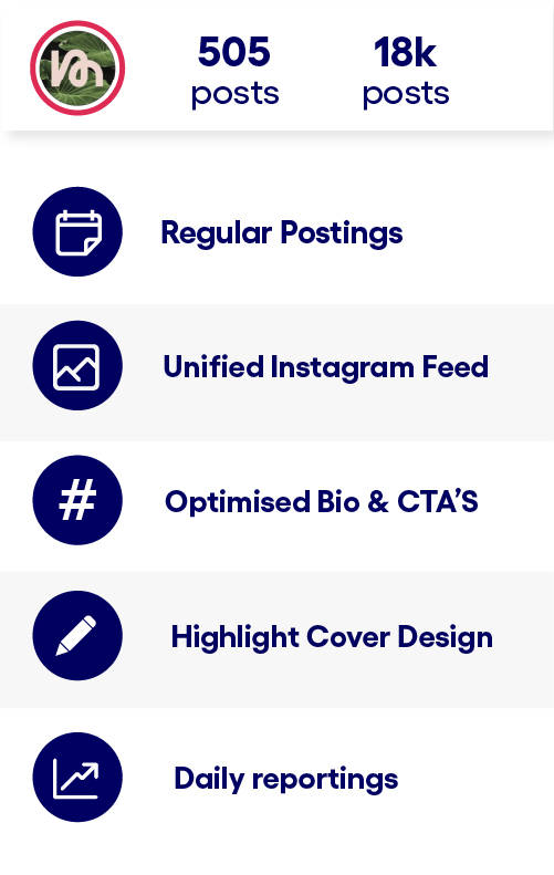 Followers, reach, post views, profile views - important metrics in the app.