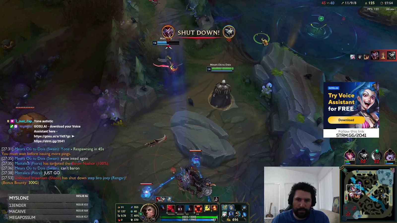 non-intrusive ad banner during live streaming