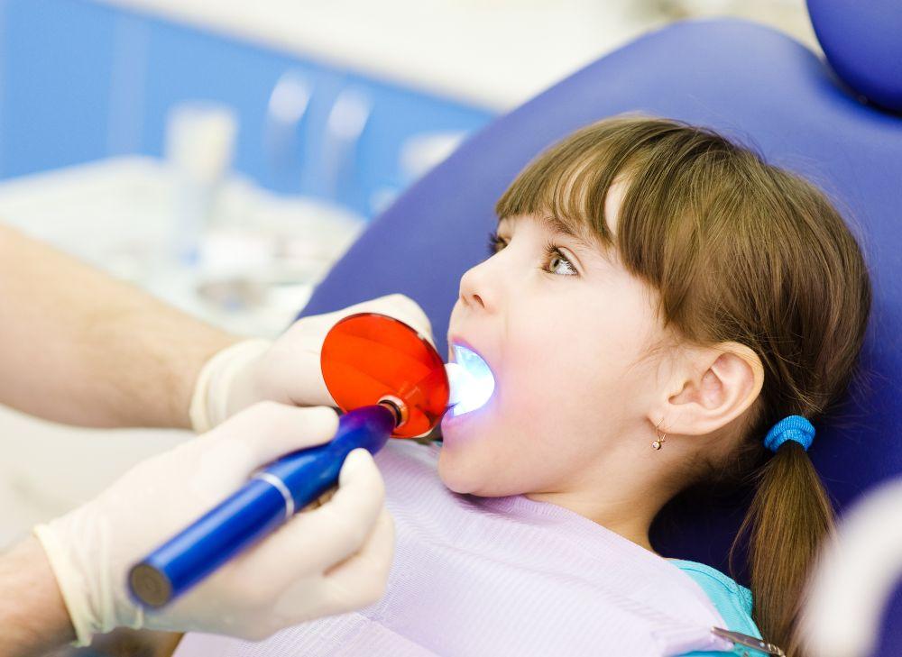 child getting dental filling