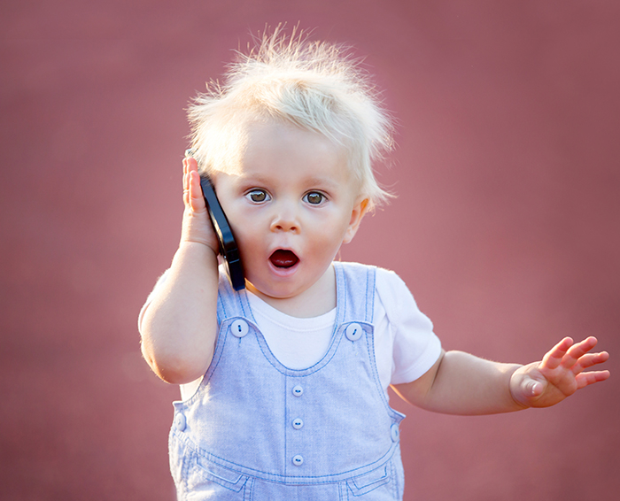 child on the phone