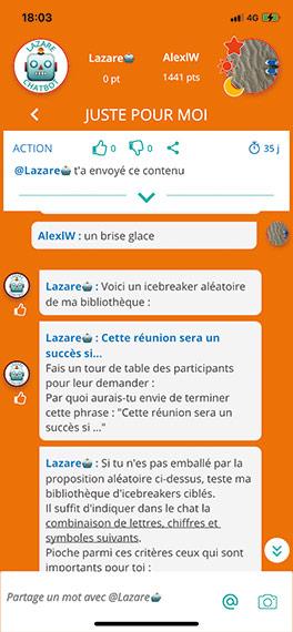 chatbot outil management