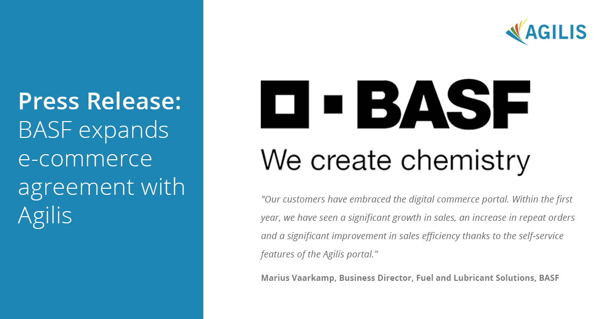 Press Release: BASF expands e-commerce agreement with Agilis
