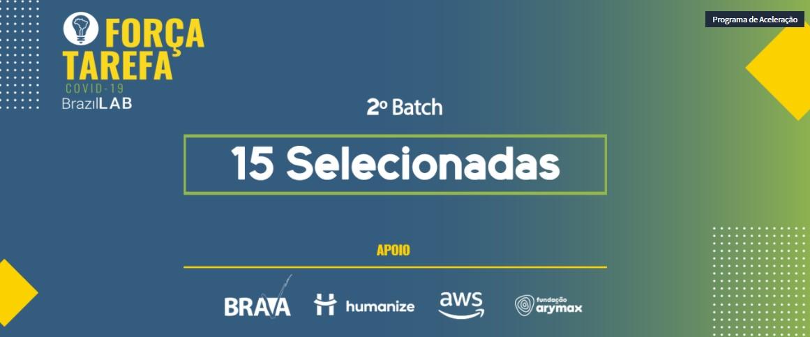 Confira as 15 Startups e PMEs selecionadas para o 2º Batch do Força-Tarefa Covid-19 do BrazilLAB