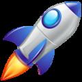 Emoji de Foguete espacial