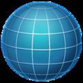 Emoji de Globo terrestre com linhas de longitude e latitude
