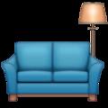 Emoji de Sofá e Luminária de chão