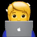 Emoji de Pessoa trabalhando em um notebook
