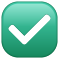 Emoji de Check