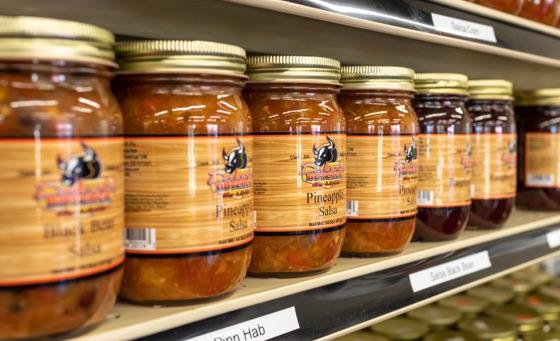 Dakota Butcher salsa on shelf in store