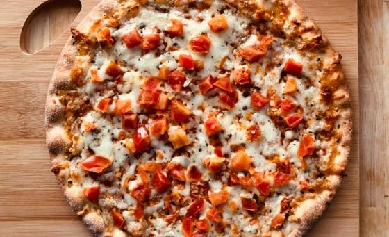 fresh cooked Dakota Butcher pizza