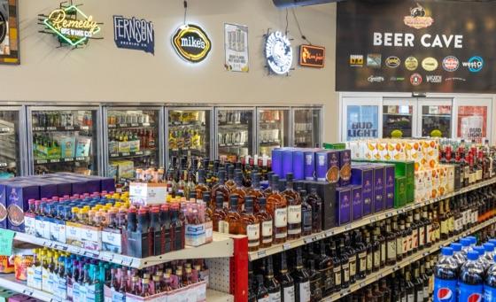 Dakota Butcher beer, wine and liquor selection