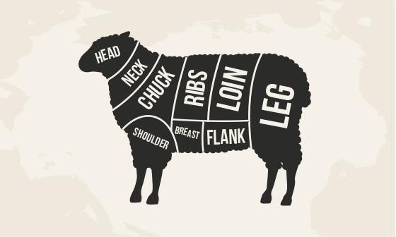 lamb butchering chart