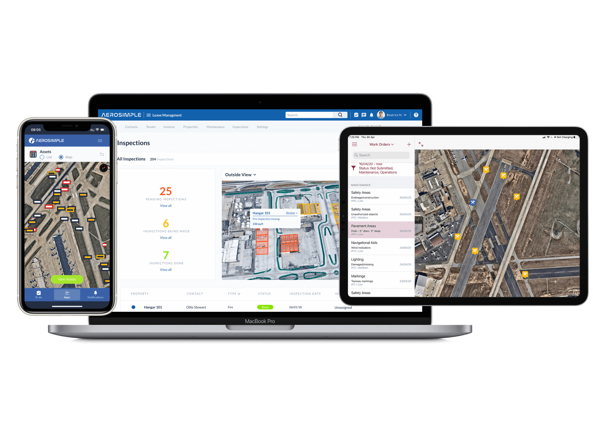Airport operations software and apps Aerosimple