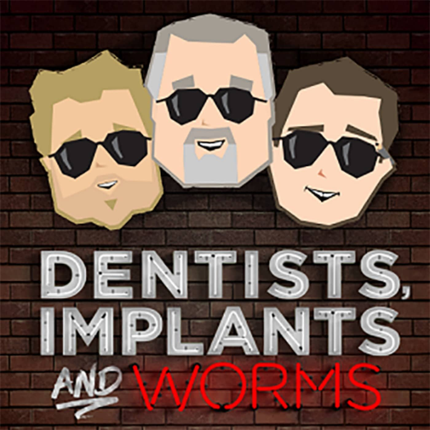 dentist implant and worms logo