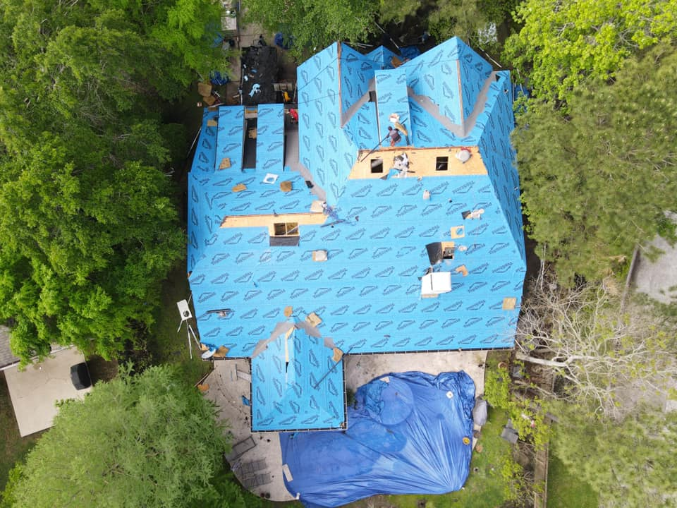 blue roof image roofing