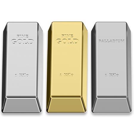 gold and palladium bars