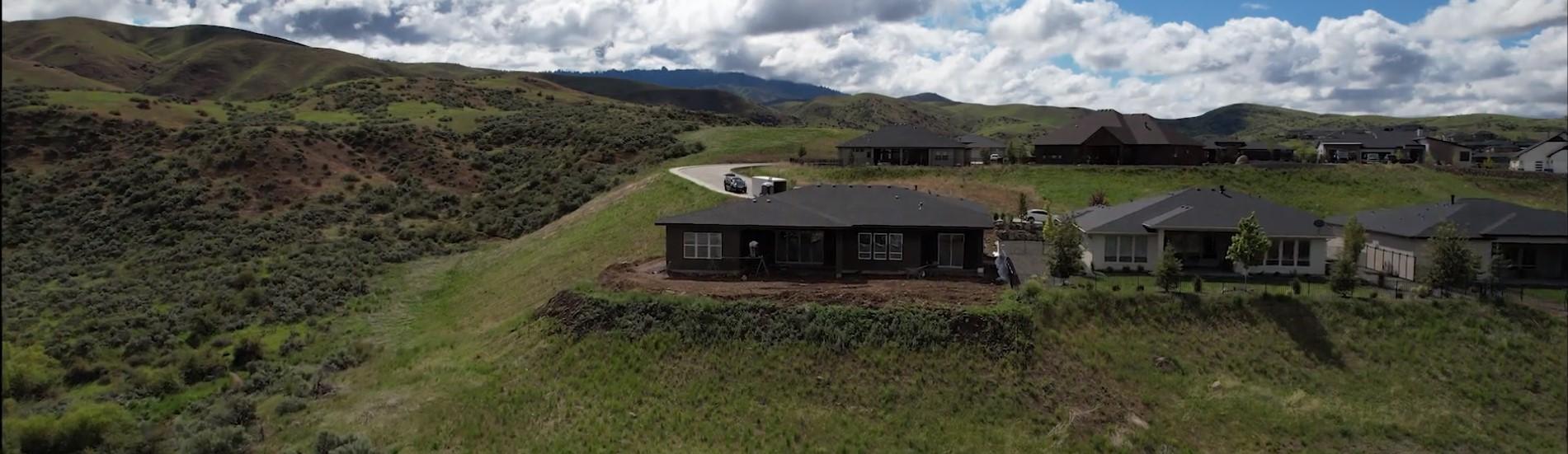 Image of new housing in rural Idaho.