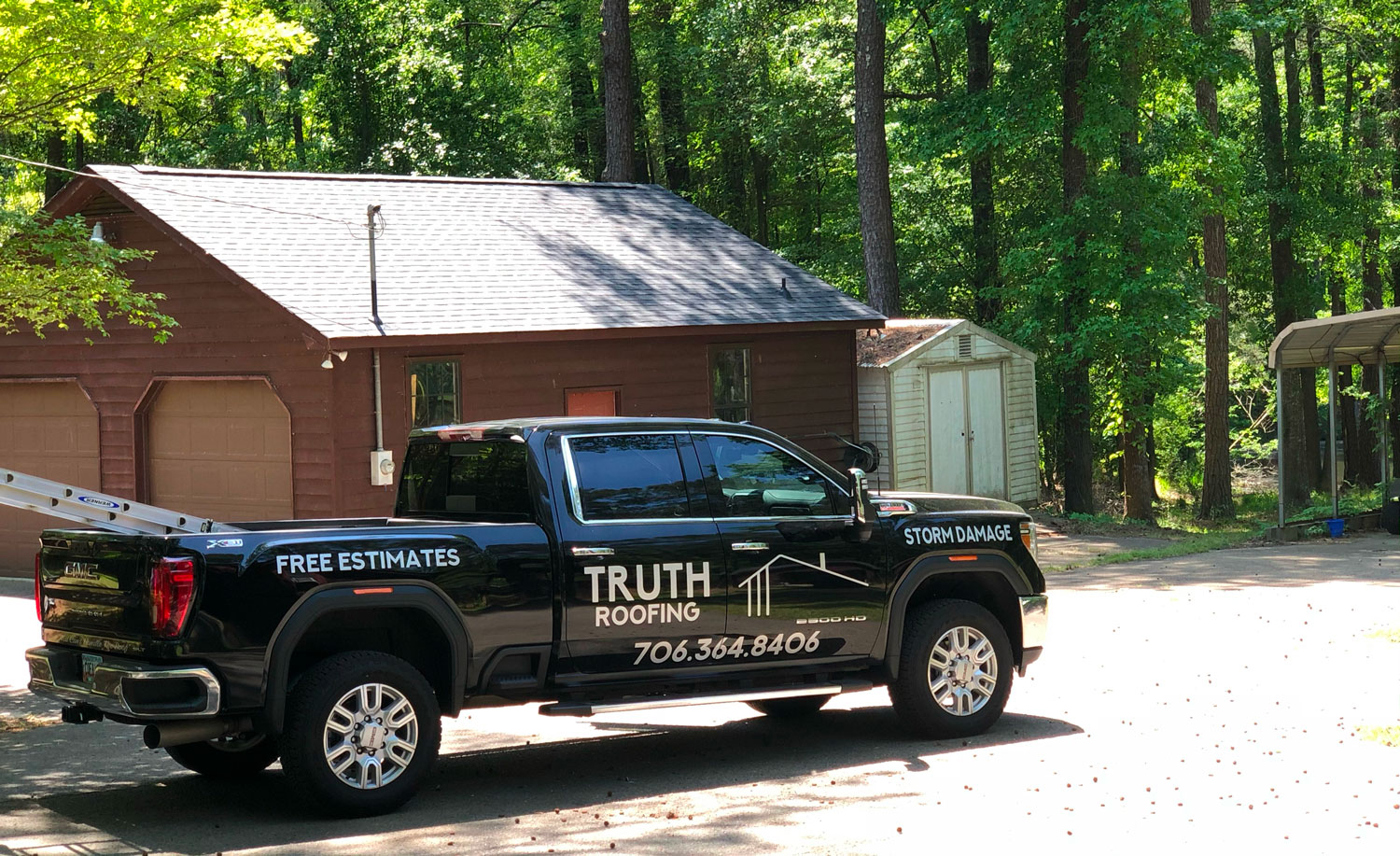 Roof installation for a residence in Augusta.