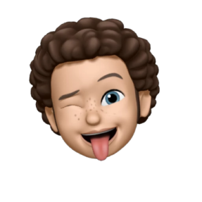 Memoji portrait representation of one of our customers and an iMessage bubble with their testimonial written out in a text.