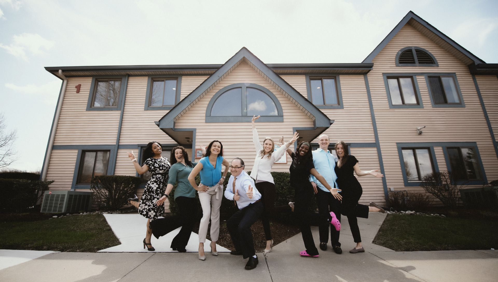 Photo of our team members outside of our Riverton, New Jersey dental practice
