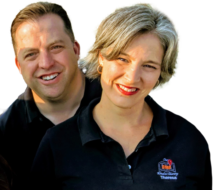 The owners of One Stop Window Cleaning.