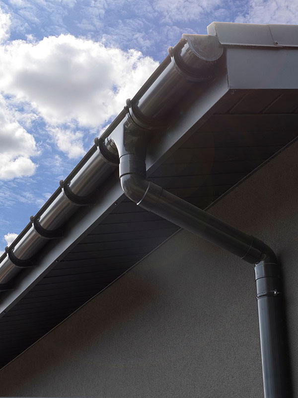A cleaned gutter.